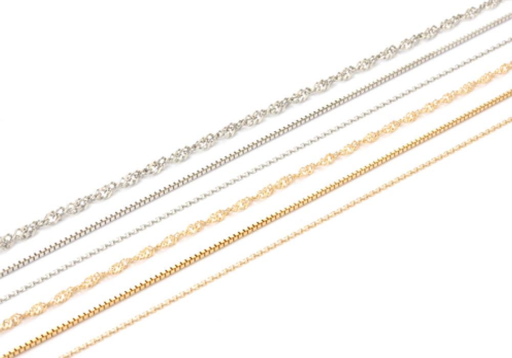 お好みの素材・デザイン・長さでネックレスやブレスレットをお作りします。